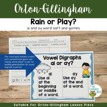 Vowel Digraph ai and ay