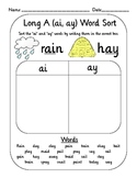 Vowel Digraph Teams Word Sort Set (oi, oy, ai, ay, ou, ow, etc)