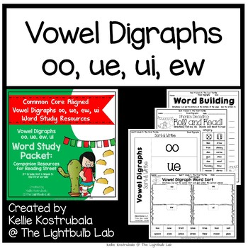 Vowel Digraph Word Study Packet: (The First Tortilla) Reading Street Resource