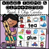 Vowel Digraph and Diphthongs Read and Clip Cards