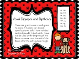 Vowel Digraph and Dipthong real and pseudo word cards, gre