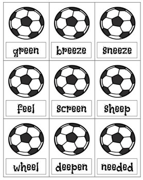 Vowel Digraph ee and ea Game