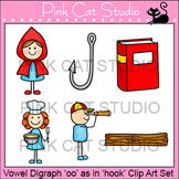 "Vowel Digraph ""oo"" as in ""hook"" Phonics Clip Art Set - Commercial Use Okay"