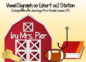 Vowel Digraph oo (short oo) Station (Compatible Journeys 1st Grade Lesson 23)