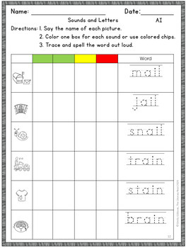 Vowel Digraphs {AI and AY}