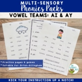 Vowel Digraphs AI AY Orton-Gillingham Multisensory Phonics Activities