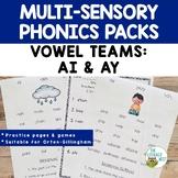 Vowel Digraphs AI AY Orton-Gillingham Multisensory Phonics