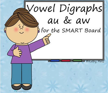 Vowel Digraphs Au & Aw for the SMART Board