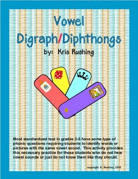 practice vowel digraphs and diphthongs