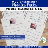 Vowel Digraphs EE EA Orton-Gillingham Level 2 Multisensory Phonics Activities