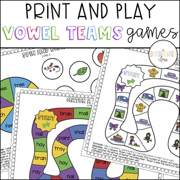 Vowel Digraphs Games:  Long Vowels