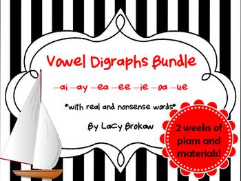Vowel Digraphs Long ai, ay, ea, ee, ie, oa, ue
