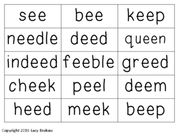 Vowel Digraphs Long ai, ay, ea, ee, ie, oa, ue Games