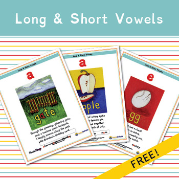 Long and Short Vowel Sounds Mini Posters