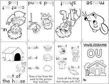 Vowel Digraphs Minibooks