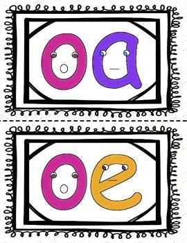 "Vowel Digraphs ""Talkers"" Activities Packet"