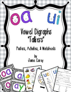 "Vowel Digraphs ""Talkers"" Activities Packet"