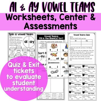 Long A Vowel Teams: Reading, Writing, Sorting and More!