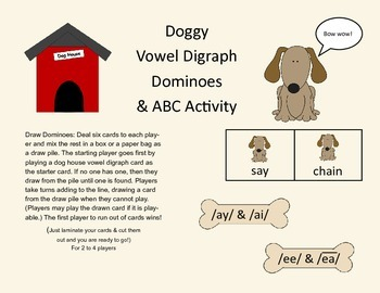 Vowel Digraphs ai, ay, ee, and ea