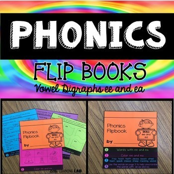 Journeys Schools Around the World | Vowel Digraphs ee and ea | Phonics Flip Book