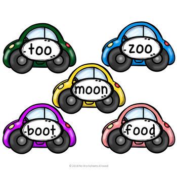 Vowel Digraphs Activity oo/oo, ar, or, ur