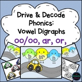 Vowel Digraphs oo/oo, ar, or, ur - Phonics Activity