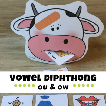 Vowel Digraphs ou and ow - OUCH! by Rochel Koval