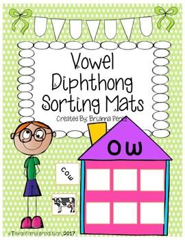 Vowel Diphthong Sorting Mats