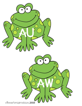 Vowel Diphthongs AW/AU Picture & Word Sort