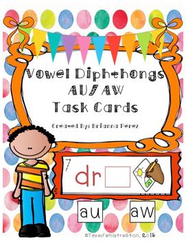 Vowel Diphthongs AW/AU Task Cards