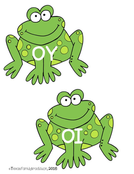 Vowel Diphthongs OI/OY Picture & Word Sort