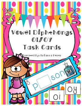 Vowel Diphthongs OI/OY Task Cards