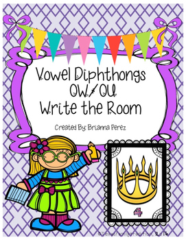 Vowel Diphthongs OW/OU Write the Room