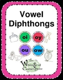 Vowel Diphthongs  Original Poems, Worksheets, and Game boards