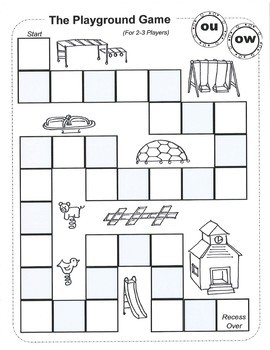 Vowel Diphthongs  Original Poems, Worksheets, and Game boards