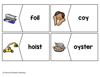 Vowel Diphthongs Vocabulary Puzzles: oi and oy Set