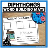 Vowel Diphthongs Word Building Mats