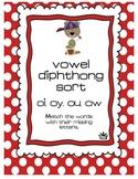 Vowel Diphthong: ou, oi, oy, ow