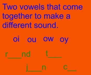 Vowel Dipthongs
