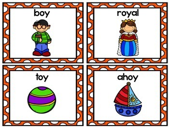 Vowel Dipthongs Spelling Cards