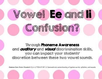 Vowel E and I Discrimination