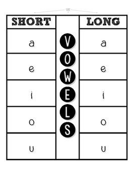 Vowel Flap Book