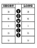 Vowel Flap Book