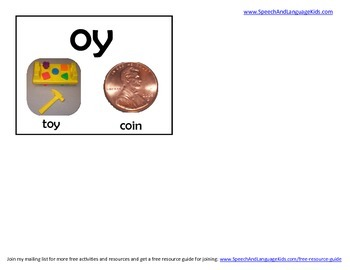 Vowel Flashcards for Speech Therapy