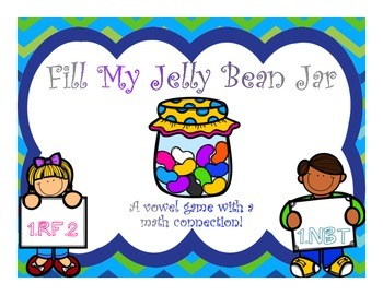 Vowel Game {Fill My Jelly Bean Jar w/ Math Connection}