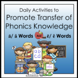 Vowel Grid: Daily Decoding Activities for A/a and E/e