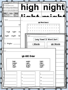 Vowel Ii Pack! 3 weeks of Lesson Plans, Activities, and Word Work!