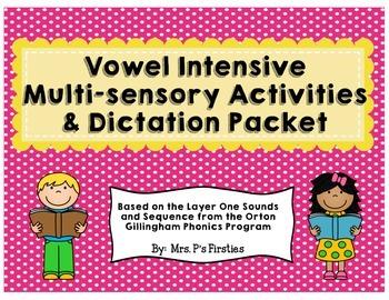 Short Vowel Intensive Multi-sensory Activities {Based on Orton Gillingham}