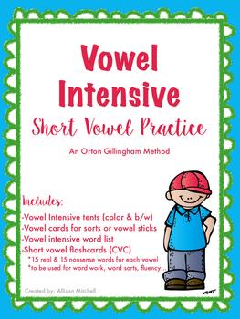 Vowel Intensive/Short Vowel Practice (Orton Gillingham)