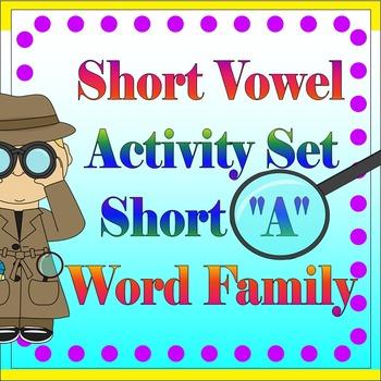 """Vowel Letter """"A"""" Activity Set"""